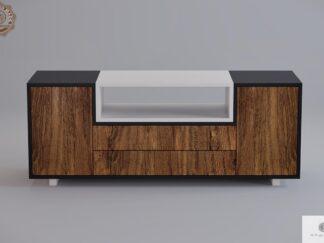 Szafka RTV pod telewizor drewniana nowoczesna do salonu BERGEN Producent Mebli RaWood Premium Furniture