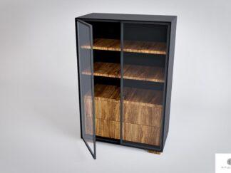 Designerska duza komoda witryna z wnetrzem z drewna litego CARLA find us on https://www.facebook.com/RaWoodpl/