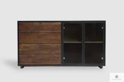 Drewniana komoda z szufladami do salonu gabinetu CARLA