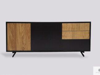 Nowoczesna drewniana szafka RTV pod telewizor do salonu CARLA