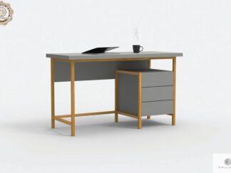 Nowoczesne biurko z drewnianymi nogami do gabinetu pokoju BOSTON find us on https://www.facebook.com/RaWoodpl/