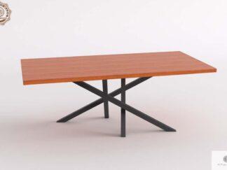 Stół konferencyjny z litego drewna dębowego na metalowej podstawie ARGON Producent Mebli RaWood Premium Furniture
