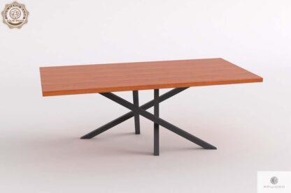 Stół z dębowym blatem na metalowej podstawie do jadalni ARGON
