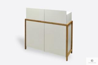 Biała komoda drewniana z szufladami do salonu BOSTON