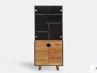 Drewniany słupek z półkami witryna GRAND