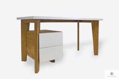 Nowoczesne biurko drewniane z szufladami na wymiar GRAND