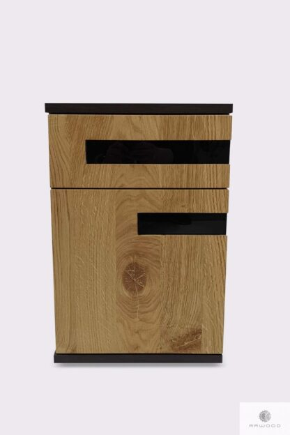 Dębowe biurko nowoczesne z litego drewna do gabinetu biura LAGOS Producent Mebli RaWood Premium Furniture