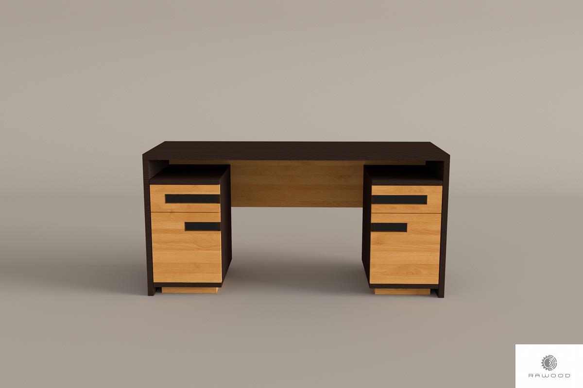 Debowe biurko nowoczesne z litego drewna do gabinetu biura LAGOS find us on https://www.facebook.com/RaWoodpl/