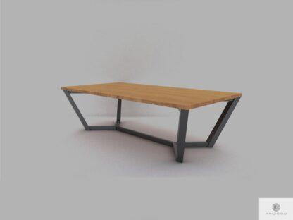 Debowy stol masywny z metalowymi nogami do jadalni ELLE find us on https://www.facebook.com/RaWoodpl/