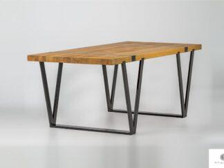 Stol z debowego drewna litego na metalowych nogach NERON find us on https://www.facebook.com/RaWoodpl/