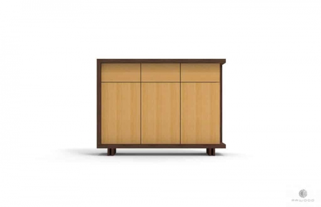 Nowoczesna komoda z szufladami na drewnianych nogach NESTON Producent Mebli RaWood Premium Furniture