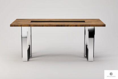 Nowoczesny stol z debowego drewna litego do jadalni salonu MOCCA find us on https://www.facebook.com/RaWoodpl/