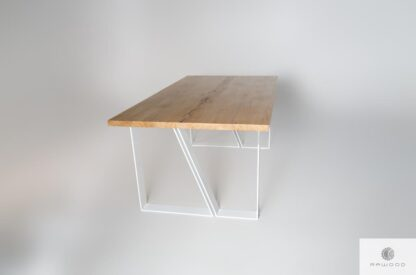 Debowy stol z litego drewna skandynawski z drewna litego do jadalni ELEGANT find us on https://www.facebook.com/RaWoodpl/