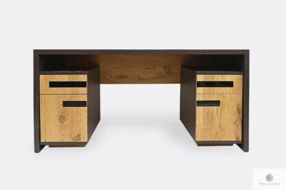 Dębowe biurko nowoczesne z litego drewna do gabinetu biura LAGOS