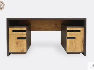 Dębowe biurko nowoczesne z litego drewna do gabinetu LAGOS