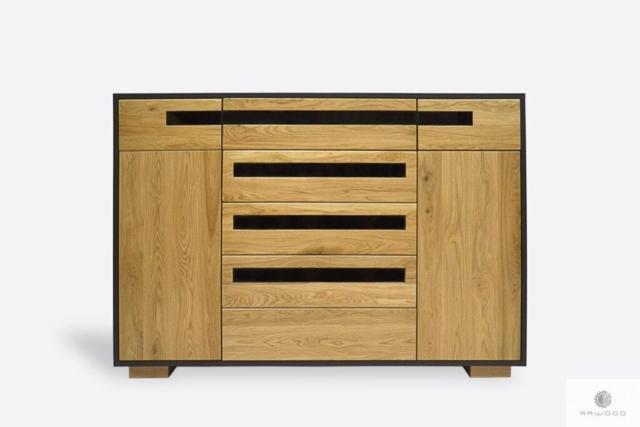 Drewniana komoda z szufladami do salonu pokoju LAGOS I