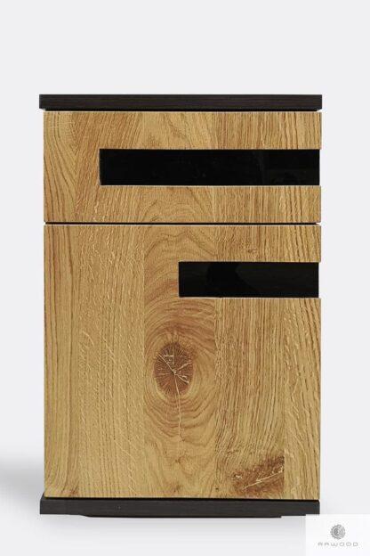 Drewniany kontenerek pod biurko kontenerek biurowy LAGOS