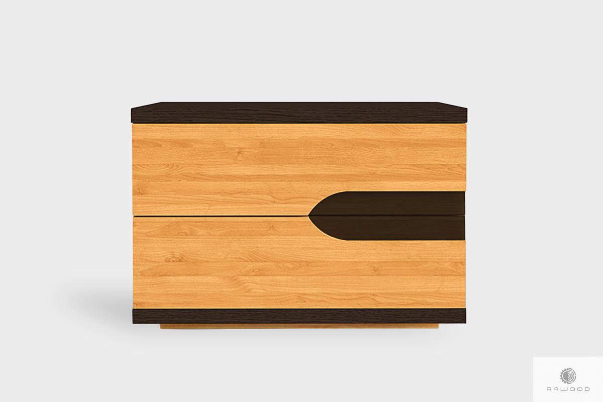 Szafka nocna z szufladami z litego drewna do sypialni LAGOS