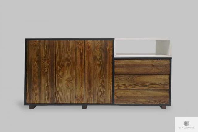 Designerska komoda w stylu skandynawskim do salonu gabinetu BERGEN I Producent Mebli RaWood Premium Furniture