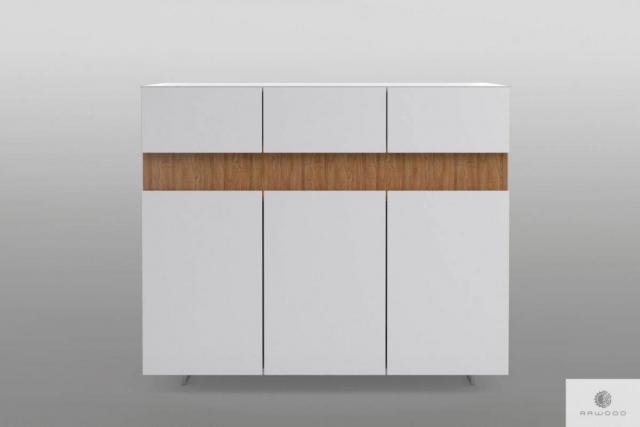 Nowoczesna komoda biała z drewna litego do salonu DORIS Producent Mebli RaWood Premium Furniture