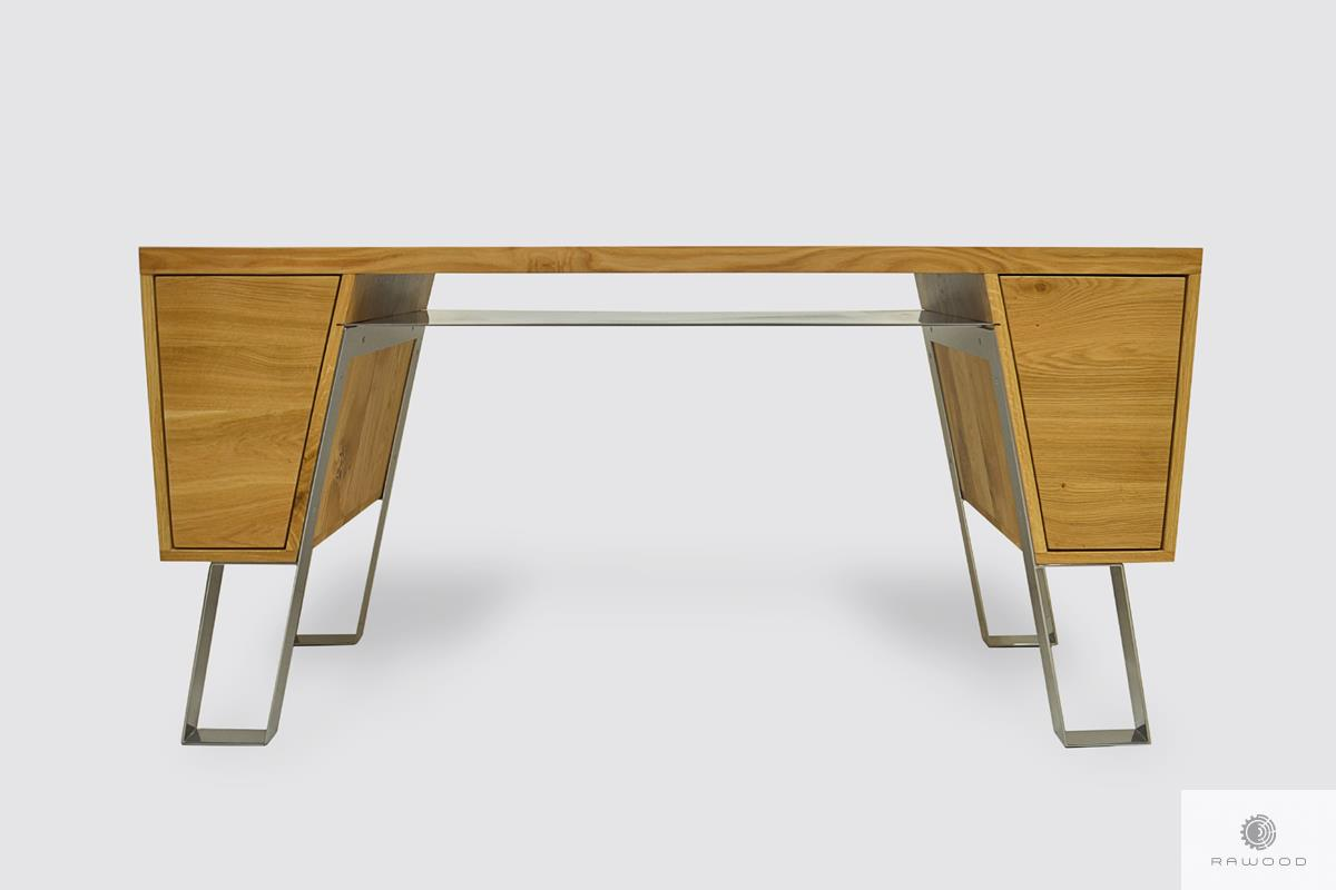 Nowoczesne biurko biurowe drewniane do gabinetu BORA I