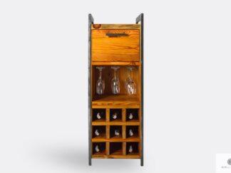 Barek alkoholowy z litego drewna szafka barowa pomocnik barmański do salonu