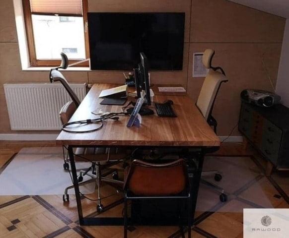 Debowe biurko z czarnymi metalowymi nogami do biura find us on https://www.facebook.com/RaWoodpl/