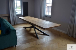 Dębowy stół industrialny z dostawkami na zamówienie DEVON
