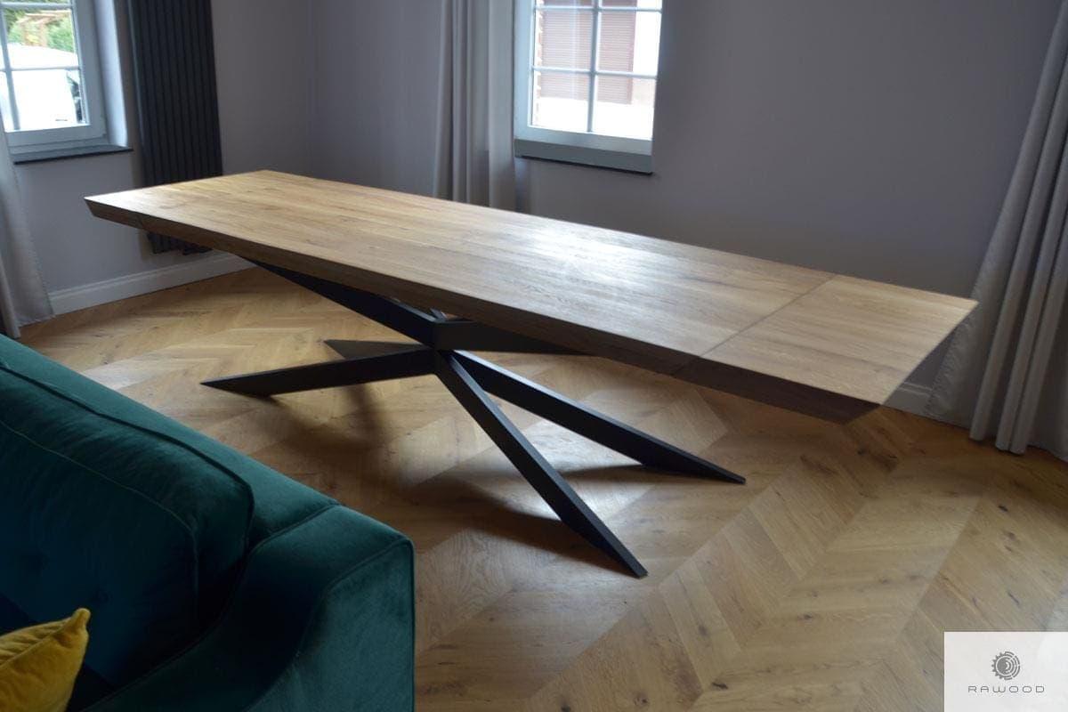 Dębowy stół z dostawkami rozkładany do jadalni DEVON