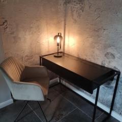 Biurko industrialne konsola loft z drewna i metalu z szufladami BRAN