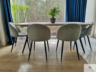Industrialny stół dębowy z metalowymi nogami do salonu VITA