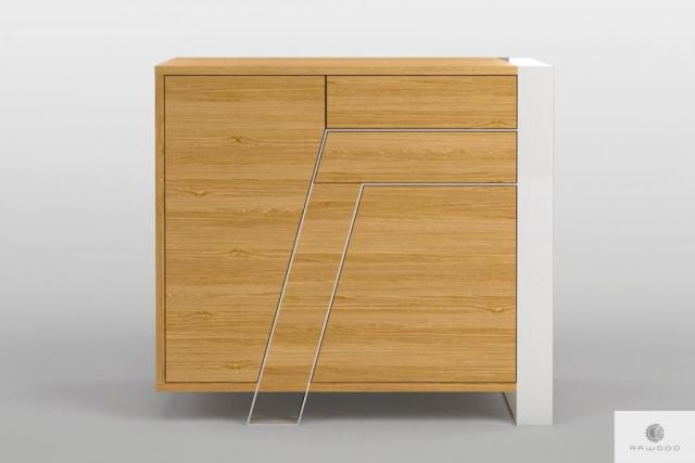 Komoda dębowa nowoczesna z litego drewna do salonu BORA