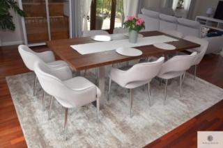 Nowoczesny dębowy stół z metalowymi nogami do jadalni MOCCA