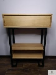 Nowoczesna konsola stolik pomocnik debowy OLIMPIA find us on https://www.facebook.com/RaWoodpl/