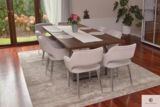 Stół dębowy industrialny na metalowych nogach na wymiar do salonu MOCCA