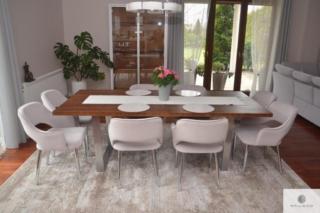 Stół nowoczesny z dębowego drewna litego do jadalni MOCCA