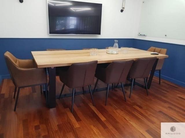 Stol z debowym blatem i metalowymi nogami do sali konferencyjnej find us on https://www.facebook.com/RaWoodpl/