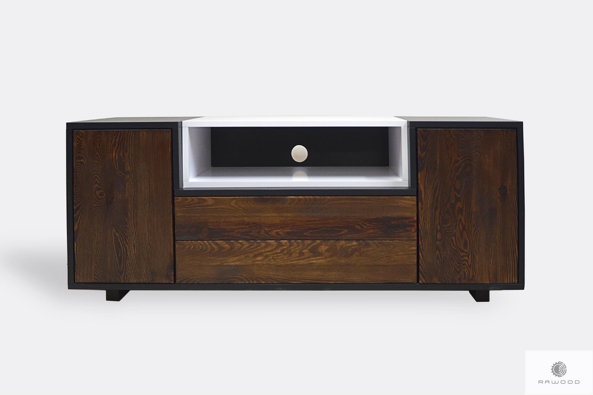 Szafka RTV pod telewizor drewniana nowoczesna do salonu BERGEN