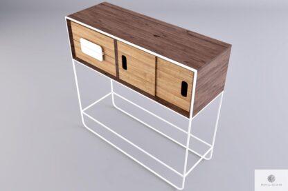Drewniany pomocnik konsola z drewna litego do salonu przedpokoju DENIS find us on https://www.facebook.com/RaWoodpl/