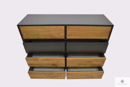 Elegancka komoda z drewna litego do salonu NESCA II Producent Mebli RaWood Premium Furniture