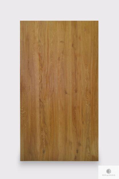 Blat z dębowego drewna litego w kolorze naturalnym do stołu NESCA II Producent Mebli RaWood Premium Furniture