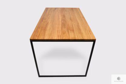 Elegancki stół z dębowego drewna litego do jadalni salonu NESCA II Producent Mebli RaWood Premium Furniture