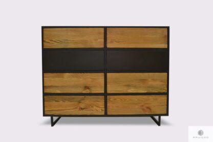 Elegancka komoda nowoczesna z drewna litego do salonu NESCA II