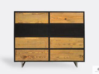 Elegancka komoda z drewna litego do salonu NESCA II