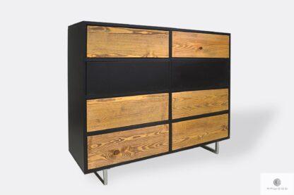 Industrialna komoda drewniana z szufladami do sypialni NESCA II