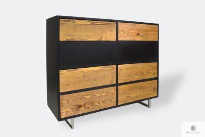 Nowoczesna drewniana komoda z szufladami do sypialni NESCA II