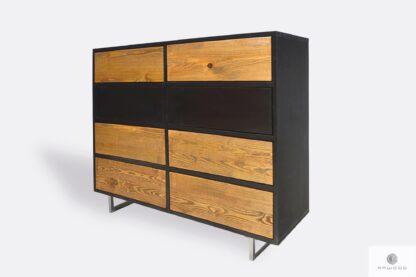 Nowoczesna komoda z drewna litego i płyty do salonu NESCA II
