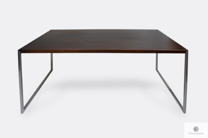 Rustykalny stół z dębowego drewna litego do jadalni salonu NESCA II