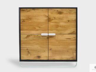 Solidna drewniana komoda z dużymi szufladami do salonu DENIS