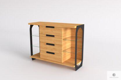 Komoda dębowa z szufladami z drewna litego do salonu WALT Producent Mebli RaWood Premium Furniture